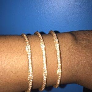 NEW Bebe Triple Bar Bling Cuff- Gold